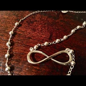 Sterling silver 925 infinity sign necklace